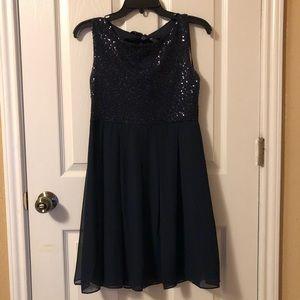 Navy blue dress! B. Darlin , juniors sz 9/10